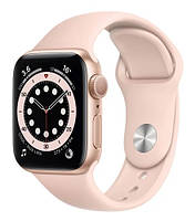 Apple Watch Series 6 40mm Gold Aluminum Case with Pink Sand Sport Band (MG123), фото 1