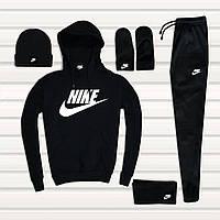Весь набор всего 1349 грн ( костюм + шапка + варежки+ баф) Nike / Найк