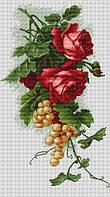 Набор для вышивки крестом Luca-S B2229 Красные розы с виноградом
