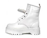 """Ботинки женские зимние кожаные Dr. Martens MOLLY """"Белые"""" с мехом размер 36-40, фото 1"""