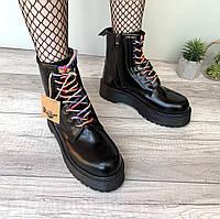 """Ботинки женские осенние кожаные Dr. Martens MOLLY """"Черные"""" размер 36-40, фото 1"""