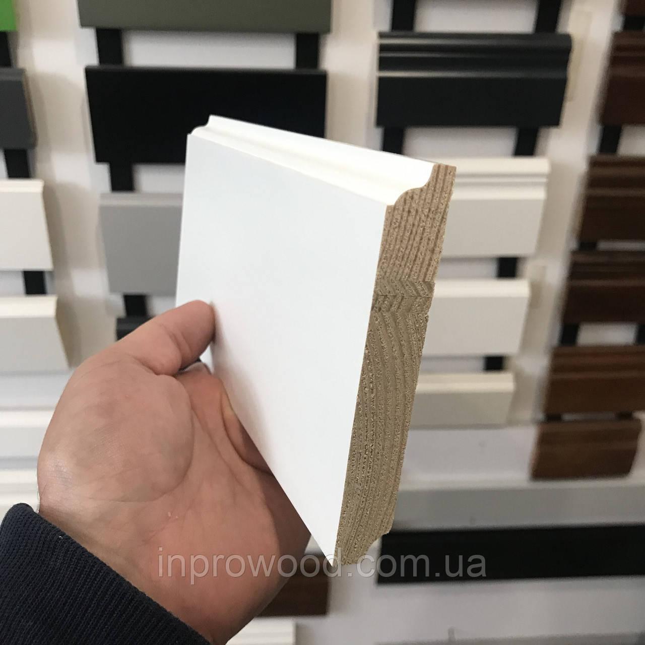 """Колониал"" 100х16 мм, Плинтус белый деревянный"