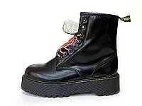 """Ботинки женские зимние кожаные Dr. Martens MOLLY """"Черные"""" с мехом размер 36-40, фото 1"""