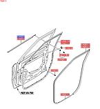 Модинг передней стойки правой киа Соул 1, KIA Soul 2008-13 AM, 861802k500, фото 4