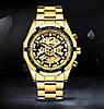 Механические часы с автоподзаводом Forsining (gold) - гарантия 12 месяцев, фото 2