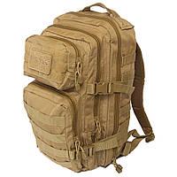 Тактичний штурмовий рюкзак Mil-tec 20 л койот з velcro-панеллю