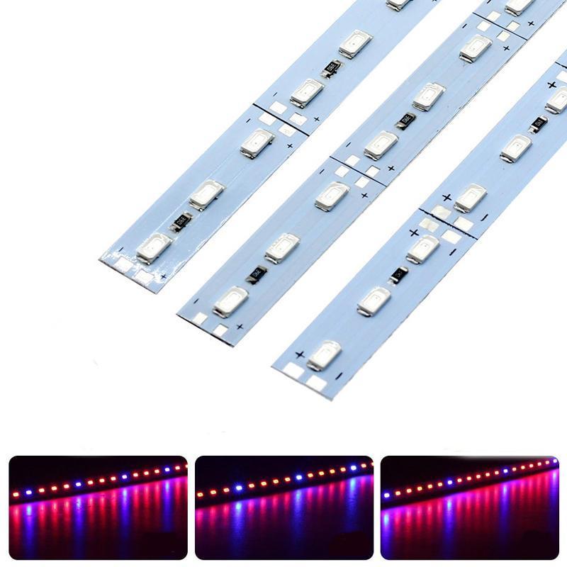 Фито LED линейка светодиодная SMD 5630, 144LED, 12V IP20 ( 3красных + 1синий )
