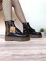 """Ботинки женские зимние кожаные Dr. Martens Jadon """"Черные"""" с мехом размер 36-40, фото 1"""
