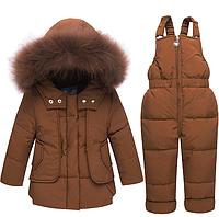 Дитячий зимовий комбінезон роздільний для хлопчиків /детская зимняя одежда для мальчиков и девочек, утепленный