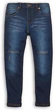 Подростковые детские зауженные джинсы для мальчиков 9-13 лет, 134-140 см