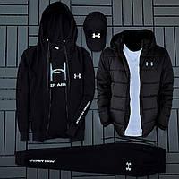 Комплект (кофта + штаны + футболка + кепка + куртка) Under Armour