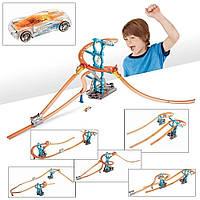 Детский гоночный автотрек Track Builder Spiral Starter Set. Автомобильный трек инерционный с машинками.