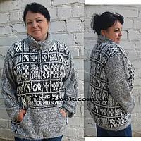 Туника-свитер женский под горло- большие размеры с 50 по 64
