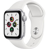 Apple Watch SE 40mm Siver Aluminum Case with White Sport Band (MYDM2)