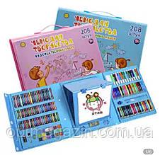 Художній набір з мольбертом для дитячої творчості у валізі з 208 предметів