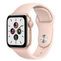 Apple Watch SE 40mm Gold Aluminum Case with Pink Sand Sport Band (MYDN2)