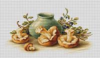 Набор для вышивки крестом Luca-S B2247 Натюрморт с грибами