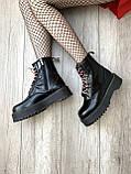 Женские зимние ботинки Dr. Martens Jadon Black (Мех), др мартенс, жіночі черевики Dr Martens, ботінки мартінс, фото 10