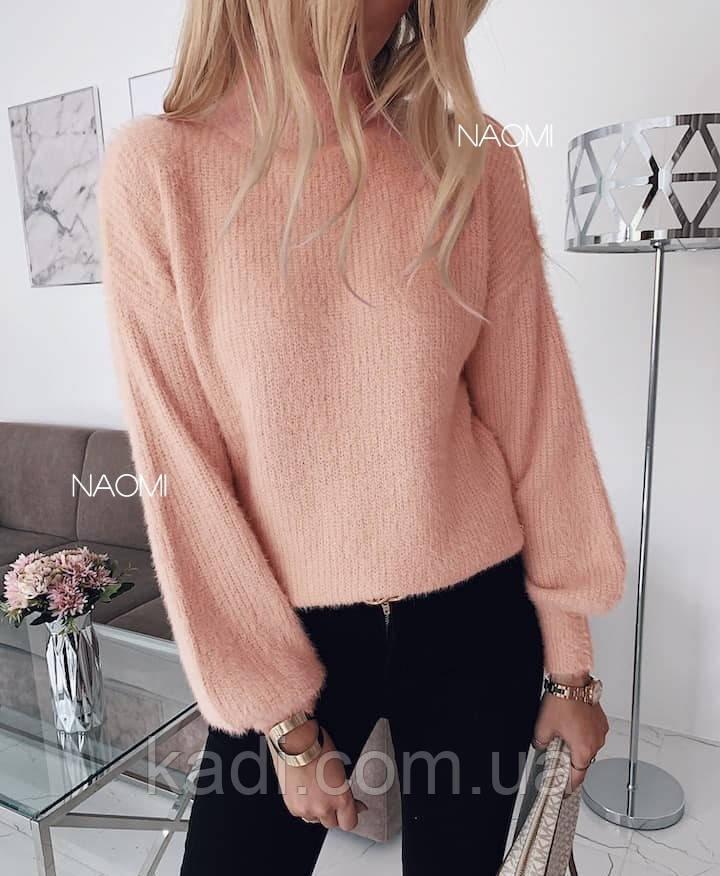 Ангоровый свитер травка / арт.817