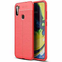 Чехол Fiji Focus для Samsung Galaxy A11 (A115) силикон Original Soft Touch красный