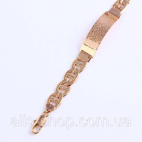 Красивий жіночий браслет з позолотою