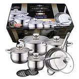 Набор кухонной посуды 10 в 1 Royalty Line RL-1232 3 кастрюли, сотейник, сковорода, фото 5