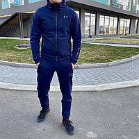 Спортивный костюм зимний теплый качественный мужской синий Under Armour, фото 1