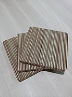 Подставка под чашку, бокал, кружку (костер, бирдекель) деревянная, размер 9х9х0,8 см., фото 1
