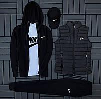 Спортивний костюм Nike (кофта + штани + футболка + кепка + жилетка)