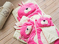 Детский комплект постельного белья Слипик Зайка розовый