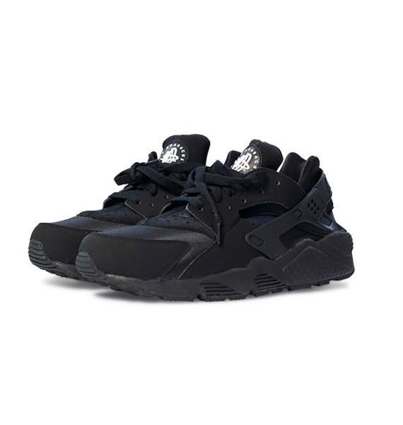 Кроссовки Nike Air Huarache triple black Черные . кроссовки nike мужские