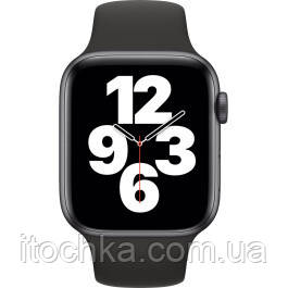 Apple Watch SE 44mm Space Gray Aluminum Case with Black Sport Band (MYDT2)