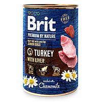 Консервы для собак Brit Premium By Nature Turkey with Liver (индейка и печень), 400 г