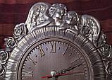 Часы резные Ангелы с розами, фото 2