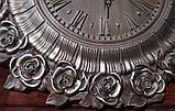 Часы резные Ангелы с розами, фото 3
