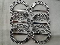 Декоративная круглая пряжка  6 см (20 шт), фото 1