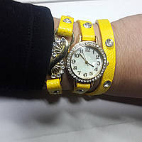 Часы кварцевые   женские обмотка Ажур, фото 1