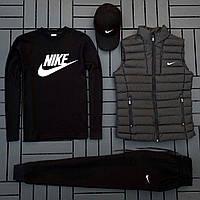 Спортивный костюм Nike Комплект (жилетка + свитшот + кепка)