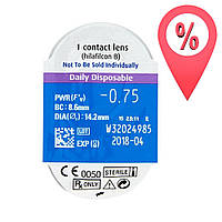 Контактные линзы SofLens daily disposable 1 шт