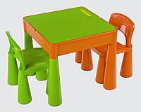 Столик и два стульчика Tega Mamut салатово оранжевый