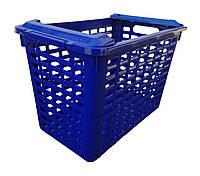 """Корзина пластиковая универсальная 20 литров синяя """"ПолимерАгро""""  + Видео, фото 1"""