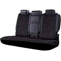 Накидки чехлы на сиденья автомобиля из алькантары (Эко-замша) PREMIUM Черная Задний комплект