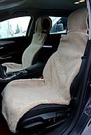 Универсальные Накидки чехлы на сидения автомобиля из овчины Sheepskin (Эко-шерсть) 2 шт Бежевые