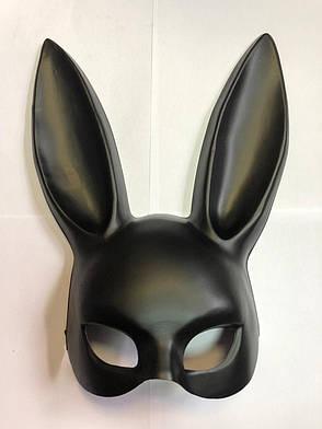 Милые уши зайца, Маска кролика PlayBoy, черная матовая 38см!, фото 2