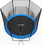 Батут садовый Fun Fit спортивный  10 (304-312 cm) 312 см с подушкой с лестницей, фото 2
