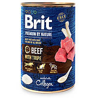 Консервы для собак Brit Premium By Nature Beef with Tripe (говядина), 6 х 800 г
