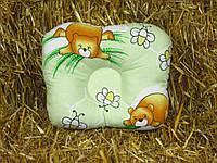 Антиалергенная ортопедическая подушка для младенцев Мишки 22 х 26 см