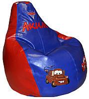 Бескаркасное кресло груша  ТАЧКИ пуф для детей мягкий