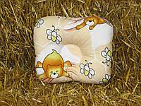 Детская антиалергенная ортопедическая подушка для новорожденных Мишки 22 х 26 см