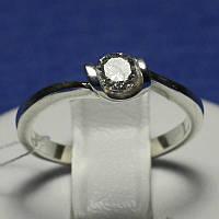 Серебряное кольцо для помолвки с цирконом 4012-р